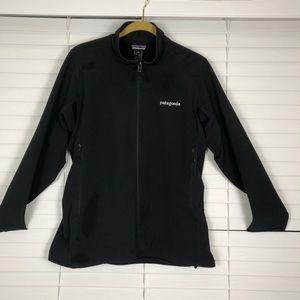 Patagonia black jacket Women's large polar tech